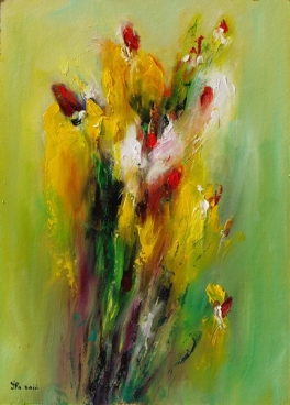 Yellow Flowers Iii Painting