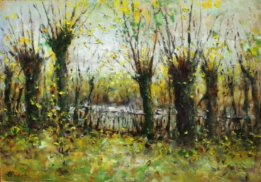 Autumn Willows Painting