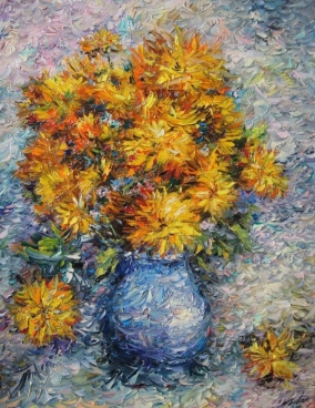Chrysanthemums Painting