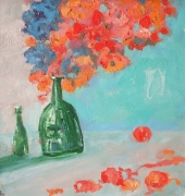 Still Life With 2 Bottles Painting
