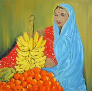 Fruit Seller Painting