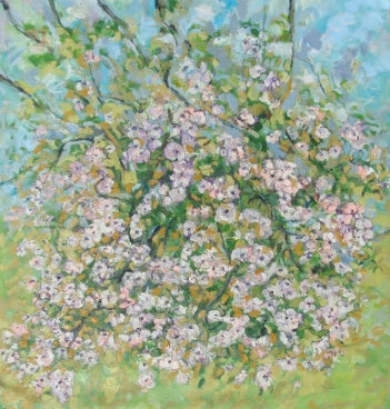 Blossoming Fruit Tree Painting