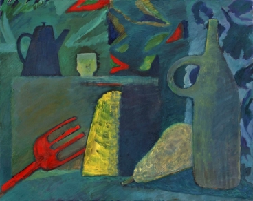 Still Life In Green Painting
