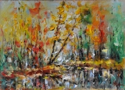 Autumn On The Lache 3 Painting