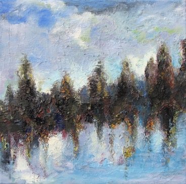 Sky, Land & Water Painting