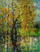Willow In Autumn Painting
