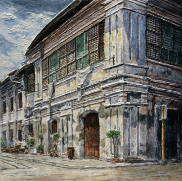 Vigan Houses 2 Painting