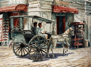 A Carriage On Crisologo Street Painting
