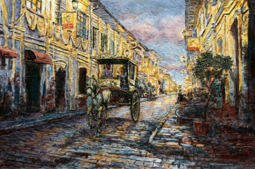 Calle Crisologo Painting