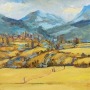 Himalaya With Wheat Fields Painting