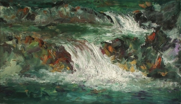 Pikielko-A Stream in Pineny Mountains Painting