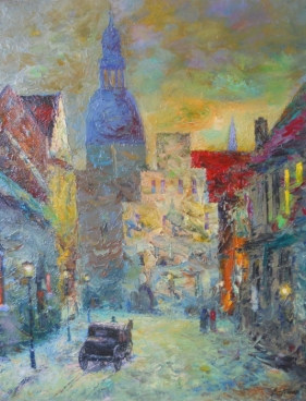 In The Old Town Painting