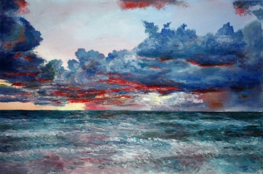Evening On The Ocean Painting