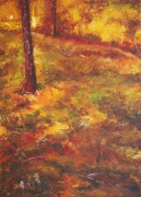 Autumn Landscape (With One Tree In Foreground) Painting