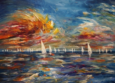 Seascape Sailing Impressions M 1 Painting