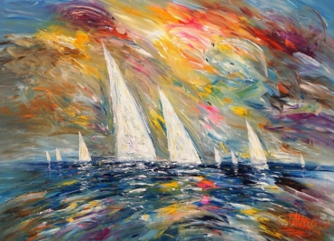 Seascape Sailing Impressions M 3 Painting