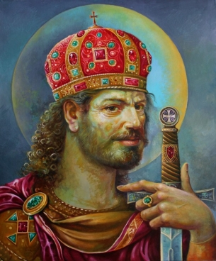 King David Iv The Builder Painting