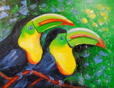 Toucans Painting