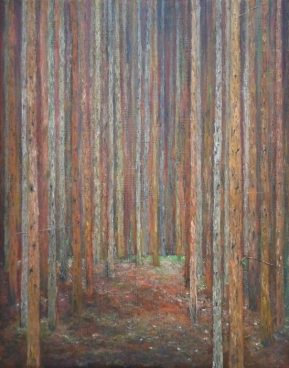 Homage To Klimt Pine Forest Painting