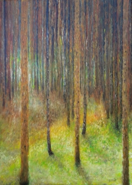 Homage To Klimt Pine Forest 2 Painting