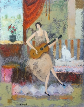 Guitar Player. Painting