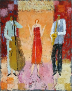 Jazz trio Painting