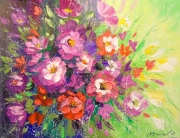 A Bouquet Of Flowers Painting