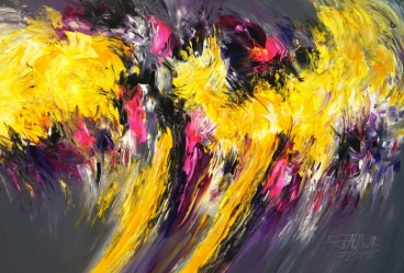 Composition Yellow Xl 3 Painting