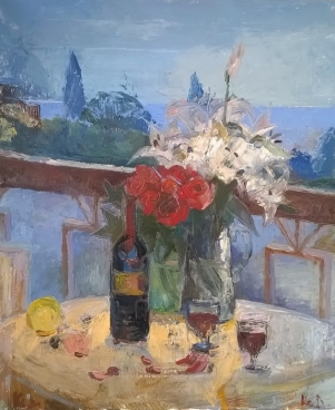 Still-Life For Duet By Sea Coast Painting