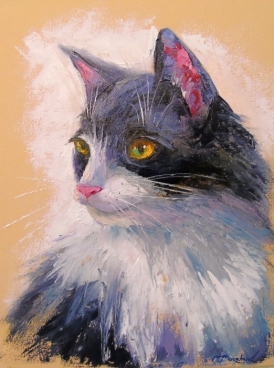 A Lovely Cat Painting