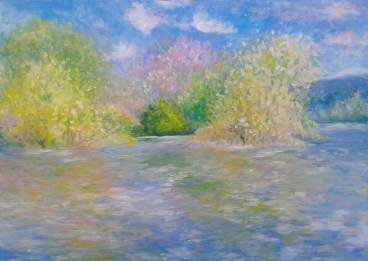 Homage To Monet, The Seine Near Giverny Painting