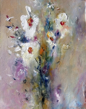 White Flowers 05 Painting