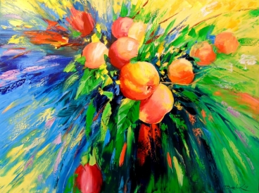 Branch Of Ripe Apples Painting