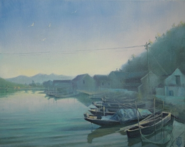 Oriental Fortune Lake. China Painting