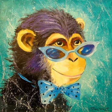 Boy Monkey Painting