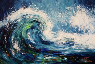 Waves Xl 1 Painting