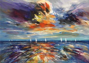 Seascape Sailing M 3 Painting