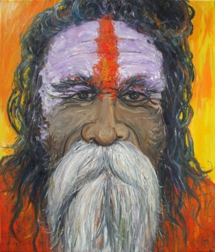 Sadhu of India III Painting