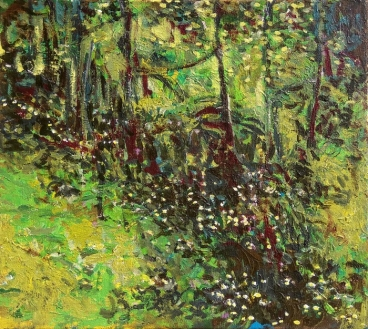 Wildflowers In The Woods Painting