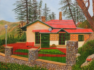 Dream House In Shimla Painting