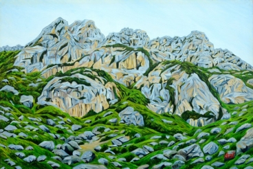 Grey Mountains Painting