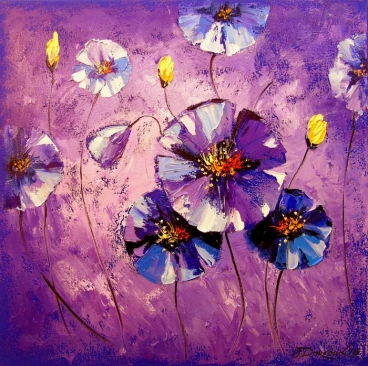 Flowers In The Moonlight Painting
