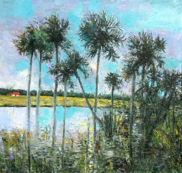 Waterscape: Palms Painting