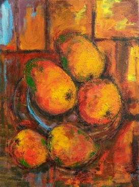 Indian Summer-V Still Life With Aam (Mangoes) Painting