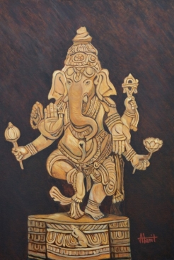 Blessing Ganesha Painting