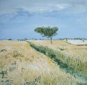 Wheat Fields Painting