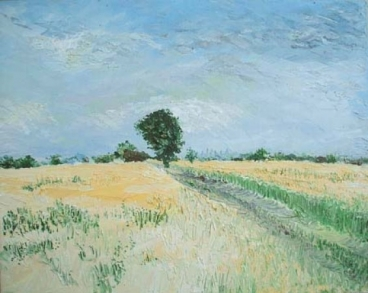 Wheat Fields-I Painting