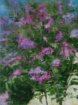 Lilacs In May Painting