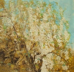 Blossoming Acacia 3 painting for sale