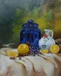 Still Life with a blue jar painting for sale